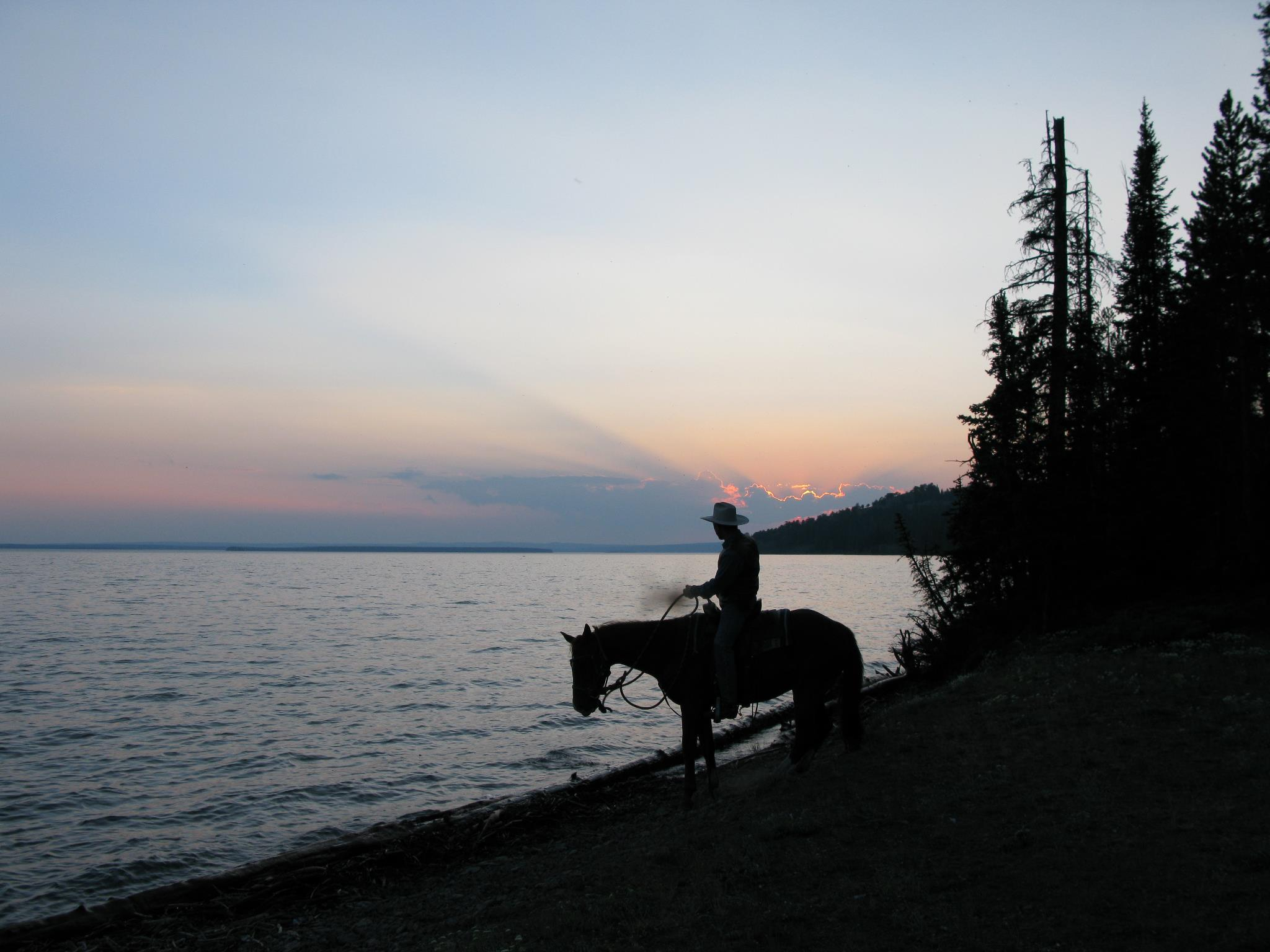 Jett and Rastis on Yellowstone Lake
